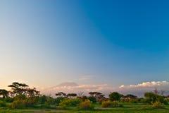lever de soleil de kilimanjaro Image libre de droits