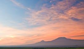 lever de soleil de kilimanjaro Photographie stock libre de droits