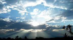 Lever de soleil de l'Arizona Photos stock