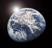 lever de soleil de l'espace Photographie stock