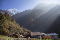 Lever de soleil de l'Himalaya Image stock
