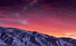 Lever de soleil de l'hiver de Reno Photographie stock libre de droits