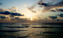 Lever de soleil de l'Océan Indien photos libres de droits