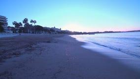 Lever de soleil de la Côte d'Azur banque de vidéos