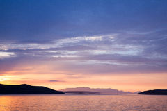 Lever de soleil de la Croatie Photographie stock libre de droits