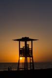 lever de soleil de la Mer Noire Image stock