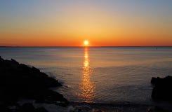 Lever de soleil de la Nouvelle Angleterre Image libre de droits