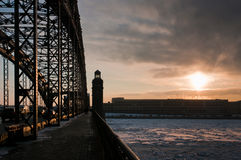 Lever de soleil de la passerelle Photo libre de droits
