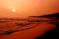 Lever de soleil de la plage Photo stock