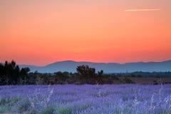 Lever de soleil de la Provence Photographie stock