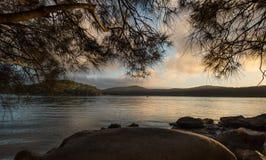 Lever de soleil de la rivière de Hawsbury, NSW Images stock