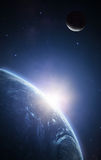 Lever de soleil de la terre Images stock