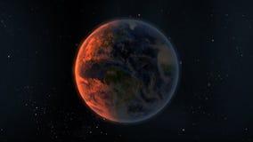 Lever de soleil de la terre de planète illustration libre de droits