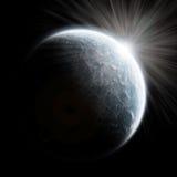 Lever de soleil de la terre - exploration d'univers Photographie stock libre de droits