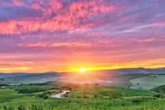 Lever de soleil de la Toscane Image libre de droits