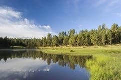 Lever de soleil de lac Hawley Photographie stock libre de droits