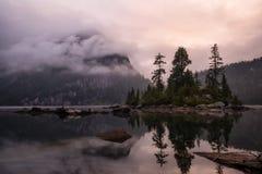 Lever de soleil de lac widgeon Photo libre de droits