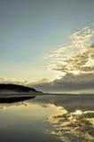 Lever de soleil de lagune Images libres de droits