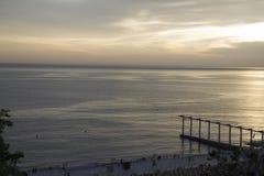 Lever de soleil de lieu de villégiature luxueux Image libre de droits