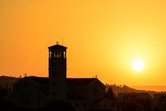 Lever de soleil de Limassol Images libres de droits