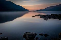 Lever de soleil de Loch Lomond Images stock