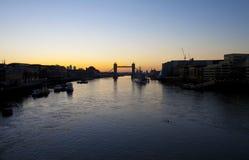 Lever de soleil de Londres Image libre de droits