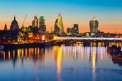 Lever de soleil de Londres Photo stock