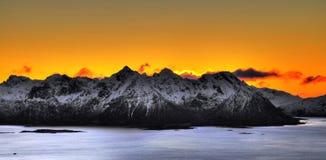 Lever de soleil de Losoten Photos stock