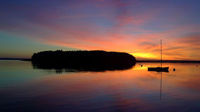 Lever de soleil de Maine Photographie stock libre de droits