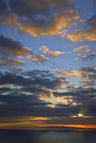 Lever de soleil de Makapuu, Oahu, îles hawaïennes Image stock