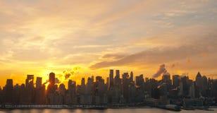 Lever de soleil de Manhattan photo stock