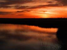 Lever de soleil de marais Photo libre de droits