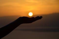 Lever de soleil de Masada Photos libres de droits