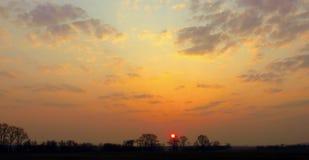 Lever de soleil de matin Images libres de droits
