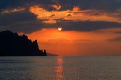 Lever de soleil de mer Photographie stock libre de droits