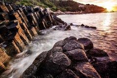 Lever de soleil de mer Images stock
