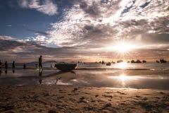 Lever de soleil de mer Images libres de droits