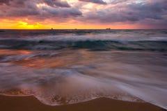 Lever de soleil de mer Photographie stock