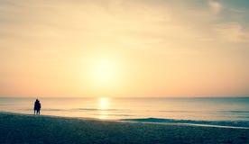 Lever de soleil de mer des Caraïbes Photo libre de droits