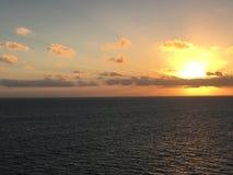 Lever de soleil de mer des Caraïbes Photographie stock
