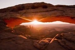 lever de soleil de MESA de voûte Photo stock