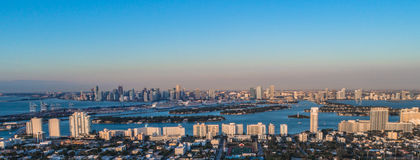 Lever de soleil de Miami Image stock