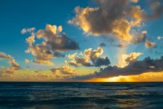 Lever de soleil de Miami Beach Photos libres de droits