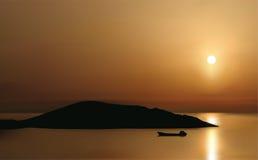 lever de soleil de mirabello de compartiment illustration de vecteur