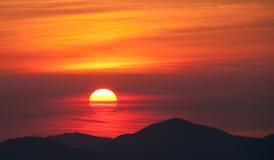 Lever de soleil de montagne Photos libres de droits