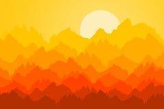 Lever de soleil de montagne Photographie stock