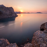 Aube chez la Mer Noire. Images stock