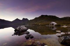 Lever de soleil de montagne de berceau photo libre de droits