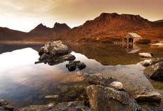 Lever de soleil de montagne de berceau Photos libres de droits