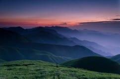 Lever de soleil de montagne de WuGong Image libre de droits